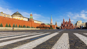 Red Square in the morning, Moscow, Russia Stock Photos