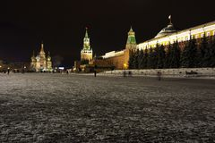 Red Square in Moscow. The Kremlin stock photo
