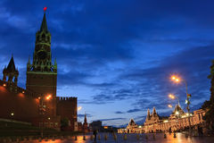 Red Square, Moscow. Red Square at night, Moscow, Russia Royalty Free Stock Photography