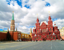 Red square, Moscow. Kremlin and historical museum in red square, Moscow, Russia Royalty Free Stock Photo