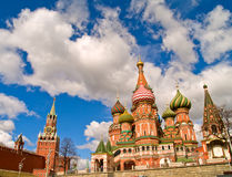 Red square, Moscow. Red square (kremlin  and basil the blessed church), Moscow, Russia Royalty Free Stock Images