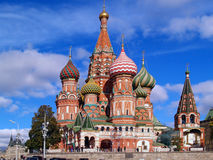 Red square Moscow. St. Basil's Cathedral on the Red Square in Moscow, Russia Stock Image