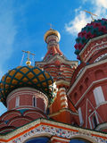 Red square Moscow. The dome of St. Basil's Cathedral - Red square, Moscow in sunny day Stock Photo