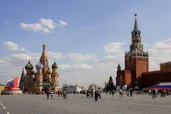 Red Square in Moscow. Before 9th May Stock Image