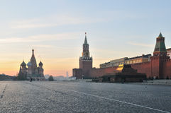 Red Square in Moscow. At sunset Stock Images