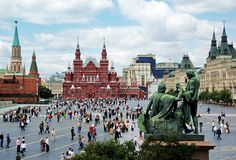 Red Square in Moscow Royalty Free Stock Photos