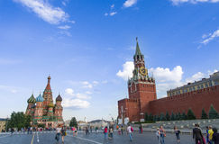 Red square. In moscow with blue sky,Russia royalty free stock image