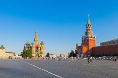 The Red square in Moscow. The historical landmarks on the Red square in Moscow Royalty Free Stock Photo