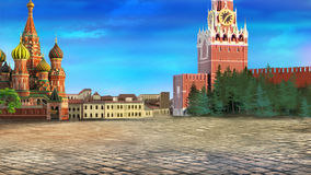Red square. Moscow Kremlin Royalty Free Stock Images