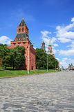 Red Square and Moscow Kremlin at noon Stock Images