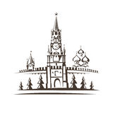 Red square and Moscow Kremlin Stock Image