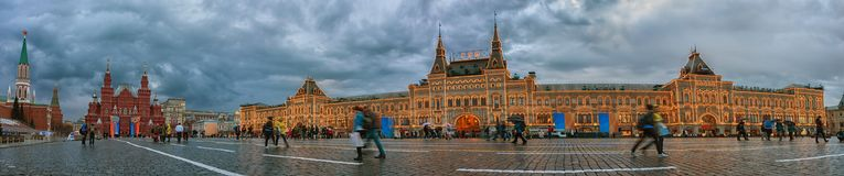 Red Square in Moscow. Main Department Store GUM. Russia Royalty Free Stock Image