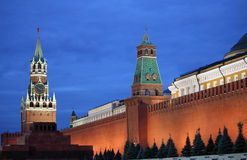 Red Square of Moscow by night royalty free stock photography