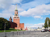 Red Square, Moscow, Russia. Spasskaya tower and red square in moscow, russia Royalty Free Stock Photos