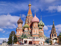 Red Square, Moscow, Russia. Saint Basil Cathedral Stock Images