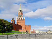 Red Square, Moscow, Russia. The Red Square, Moscow, Russia:  Spasskaya Tower Royalty Free Stock Photography