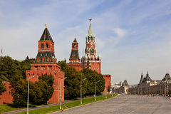 Red square in Moscow, Russian federation. Spasskaya Tower Stock Photography