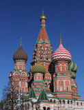 Red Square Moscow. The Saint Basil Cathedral in Red square Moscow Stock Photos