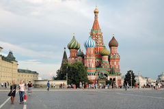 Red Square in Moscow. Saint Basils Cathedral. Royalty Free Stock Photo