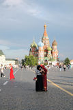 Red Square in Moscow. Saint Basils Cathedral. Royalty Free Stock Photos