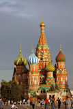 Red Square in Moscow. Saint Basils Cathedral. Stock Image