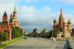 The Red Square in Moscow royalty free stock photo