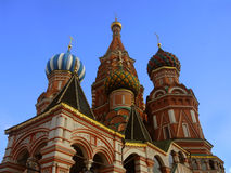 Red Square in Moscow. View of orthodox church in the Red Square in Moscow, Russia Royalty Free Stock Photography