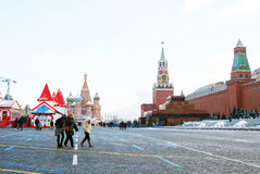 Red Square in Moscow in winter Stock Images