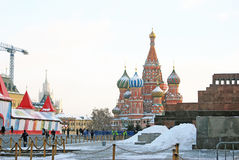 Red Square in Moscow in winter Royalty Free Stock Photography
