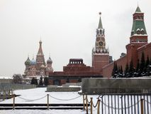 Red Square of moscow in winter stock image