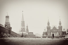 Red Square in Moscow in winter Stock Photo