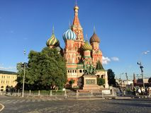 Red square of moscu. With a temple in the bacground Royalty Free Stock Images