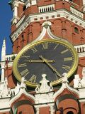 Red square Moskow. Shoot of red square, shot of spaskaya tower clocks, Moskow Royalty Free Stock Images