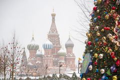 red square in new year stock image
