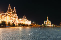 Red Square Night Royalty Free Stock Photos