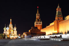 Red Square Night Stock Photography