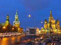 Red Square at night Royalty Free Stock Photos