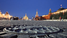 Red Square in the night Stock Images