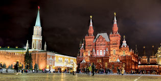 Red square at night Royalty Free Stock Photography