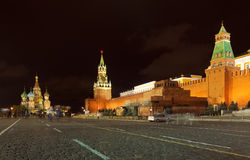 Red Square in night. Moscow, Russia Royalty Free Stock Photo