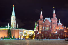 Red Square in night. Moscow, Russia Royalty Free Stock Image