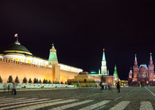 Red Square in night. Moscow, Russia Stock Images