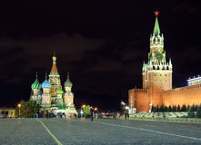 Red Square in night. Moscow. Russia Stock Images