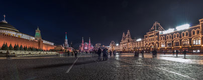 Red square at night. Stock Photography