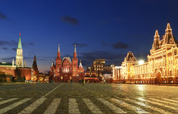 Red square at night, Moscow, Royalty Free Stock Images