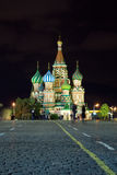 Red Square in night. Moscow, Russia Stock Photos