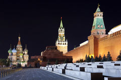 Red Square at night. Moscow, Russia. Royalty Free Stock Photos