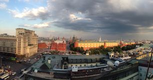 Red square. Panorama near red square Stock Photos