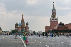 Red Square. People on Red Square. Moscow, Russia Stock Photography