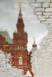 Red square reflection in moscow Royalty Free Stock Photo